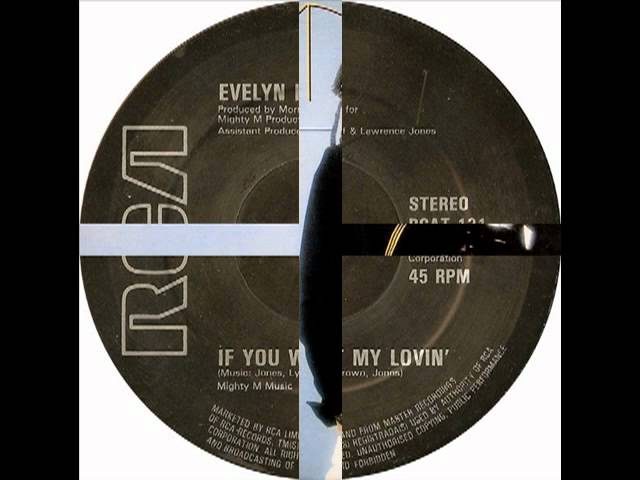 evelyn KING 1981 if you want my lovin'