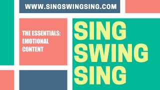 SingSwingSing - The Essentials - Emotional Content