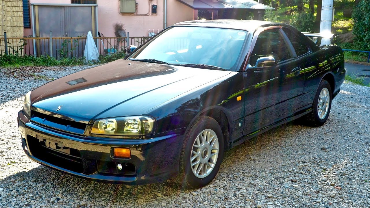 1998 nissan skyline r34 2 5 gt four sweden import japan auction purchase review youtube. Black Bedroom Furniture Sets. Home Design Ideas
