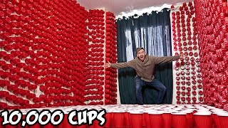 Repeat youtube video EPIC CUP PRANK ON ROOMMATE!! (10,000 CUPS)