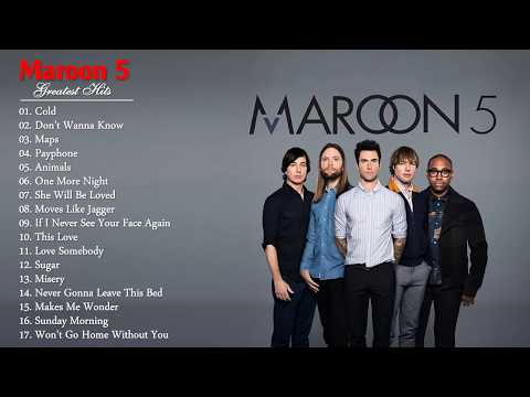 Maroon 5 Greatest Hits 2017 - Maroon 5 Best Songs Full Cover - Maroon 5 Playlist 2017