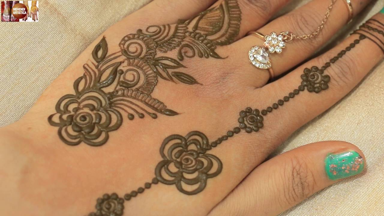 Easy Simple Ornamental Finger Mehndi Designs For Hands Time Lapse