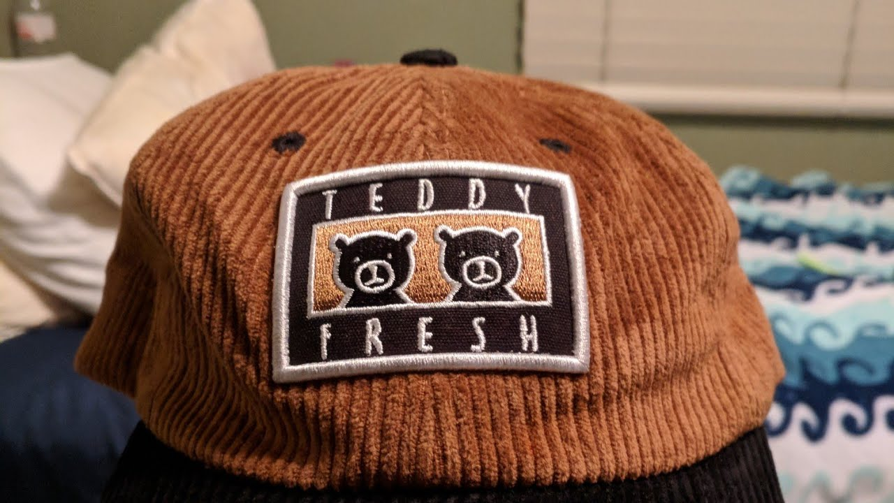 Teddy Fresh quick unboxing of Brown Corduroy Two Teds Patch Hat ... f3f4195974cc