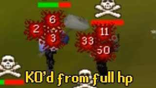 I stacked him from FULL HP... Gmaul Pure Pking OSRS