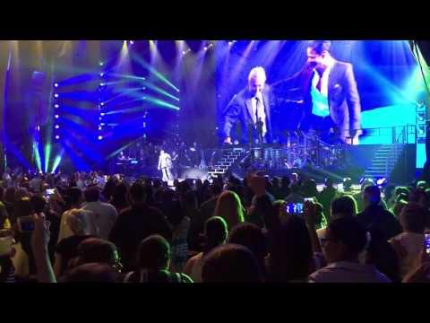 Marc Anthony and his father Felipe Muniz at Radio City Music Hall 08/27/16