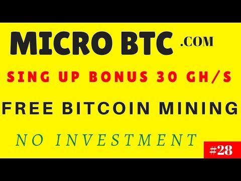 MICRO BTC.COM|Free Bitcoin Mining|Bonus 30 Gh/s|No Investment|#28|G K R INCOME