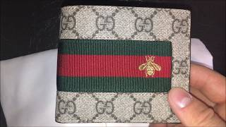 GUCCI GG WEB SUPREME WALLET UNBOXING!