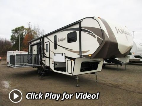 2016 Wildcat 29RKP Rear Kitchen Patio Deck Fifth Wheel by Forest River
