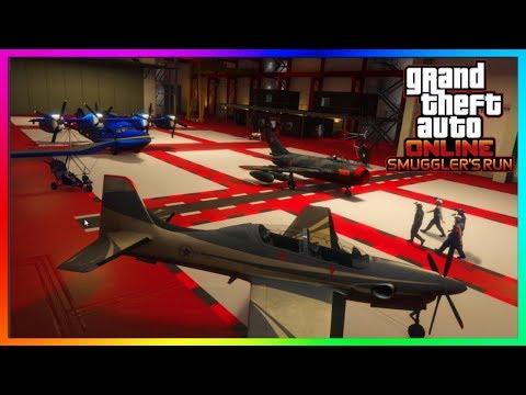 "GTA 5 Online - HANGARS EXPLAINED! - How To Buy/Use A Hangar - ""GTA 5 ONLINE SMUGGLER'S RUN DLC"""