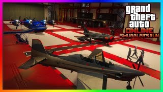 "Video GTA 5 Online - HANGARS EXPLAINED! - How To Buy/Use A Hangar - ""GTA 5 ONLINE SMUGGLER'S RUN DLC"" download MP3, 3GP, MP4, WEBM, AVI, FLV Desember 2017"