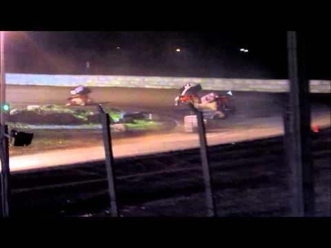 6-1-13 sprint car at Arlington Raceway MN