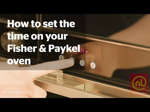 How To Set The Time On Your Fisher & Paykel Wall Oven - Noel Leeming