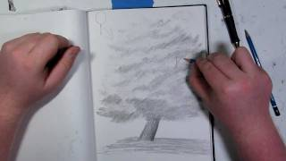 Landscape Tutorial~How to Draw Trees With Leaves Pt 2 of 2