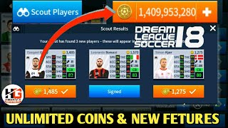 New Update || New Features || Mod Unlimited Coins || Dream League Soccer 2018 V5.05