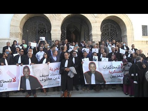 فيديو: -تونس ويل لمن ينتقد-.. محامون ينظمون وقفة احتجاجية ضد محاكمة المدنيين عسكريا  - نشر قبل 11 ساعة