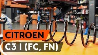 Come sostituire molle di sospensione anteriore su CITROEN C3 1 (FC, FN) [VIDEO TUTORIAL DI AUTODOC]