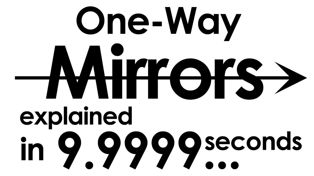 One Way Mirrors Explained In Ten Seconds