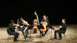 Rezsö Kókai Quartettino für Klarinette, Violine, Viola und Violoncello