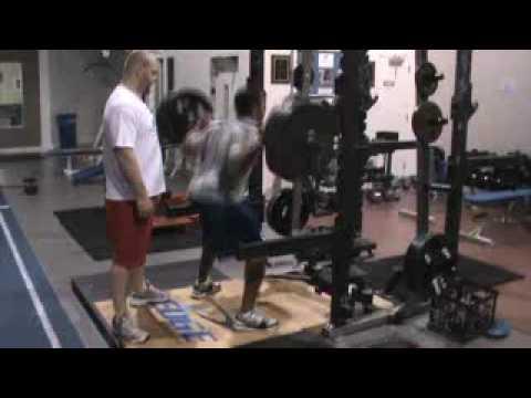 Donald Brown 405 lb x8 Squat