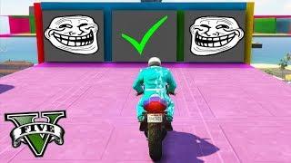 GTA V Online: CORRIDA 999,9999% TROLL - ENCONTRE o CAMINHO!!!