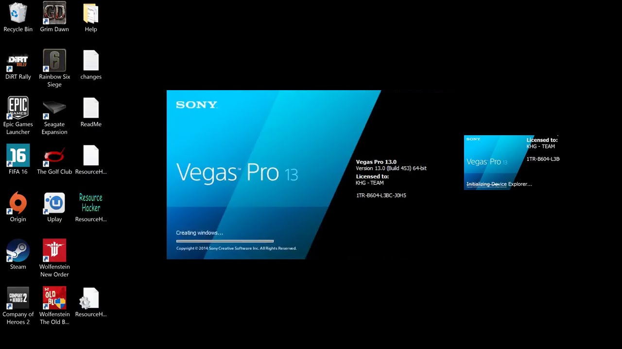 sony vegas pro 15 how to change video to screen