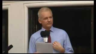 Julian Assange Historic speech @ Ecuador Embassy 19/08/2012