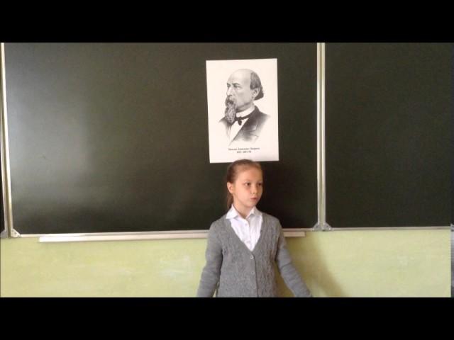 Изображение предпросмотра прочтения – ВиолеттаВоронкова читает произведение «Мороз, Красный нос» Н.А.Некрасова