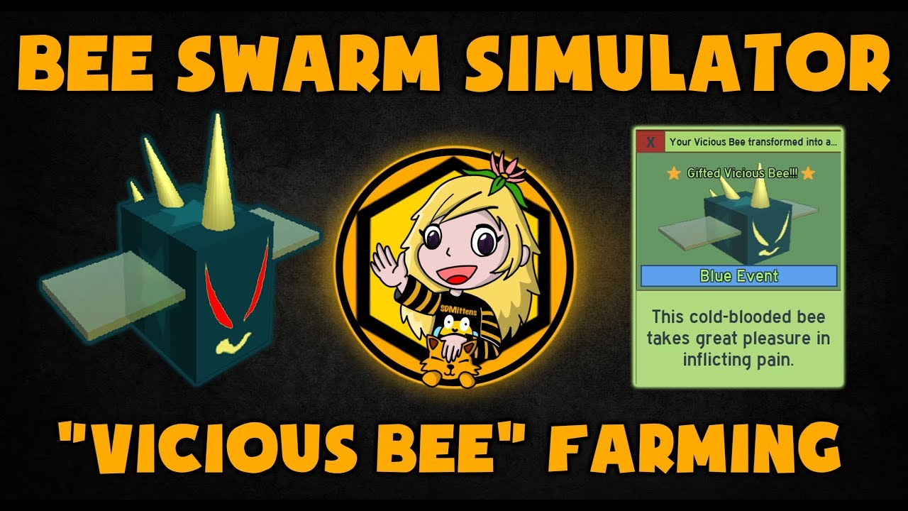 New How To Get Vicious Bee Farming Stingers Bee Swarm Simulator
