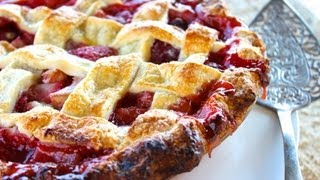 {dessert Recipe} Strawberry Rhubarb Pie Recipe By Cookingforbimbos.com