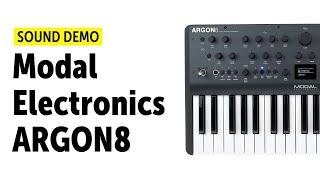 Modal Electronics Argon8 Sound Demo (No Talking)