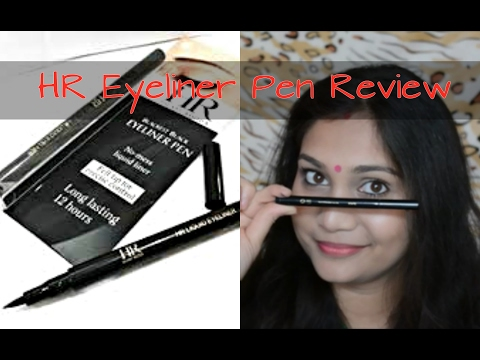 Hilary Rhoda(HR) Eyeliner Pen/Sketch Liner Review & Demo | Affordable Indian Makeup |  Nidhi Katiyar