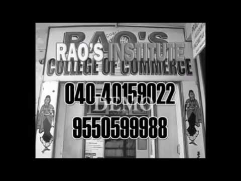B.Com tuition's in Hyderabad - RAO'S college