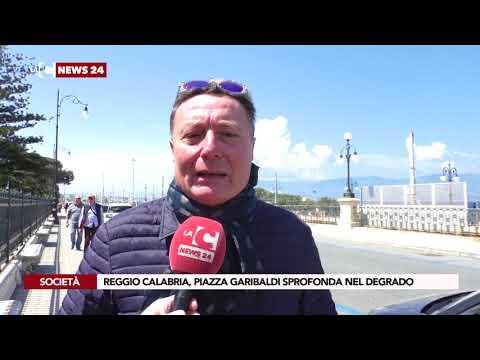 Reggio Calabria, piazza Garibaldi sprofonda nel degrado