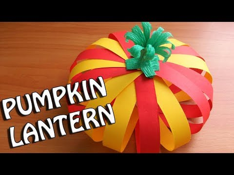 How To Make Paper Pumpkin Lantern For Fall/ Halloween Decorations. DIY Crafts Ideas