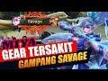 PAKE GEAR INI MIYA SAKIT BANGET  SAVAGE   Tutorial Build Gear Item   Mobile Legends