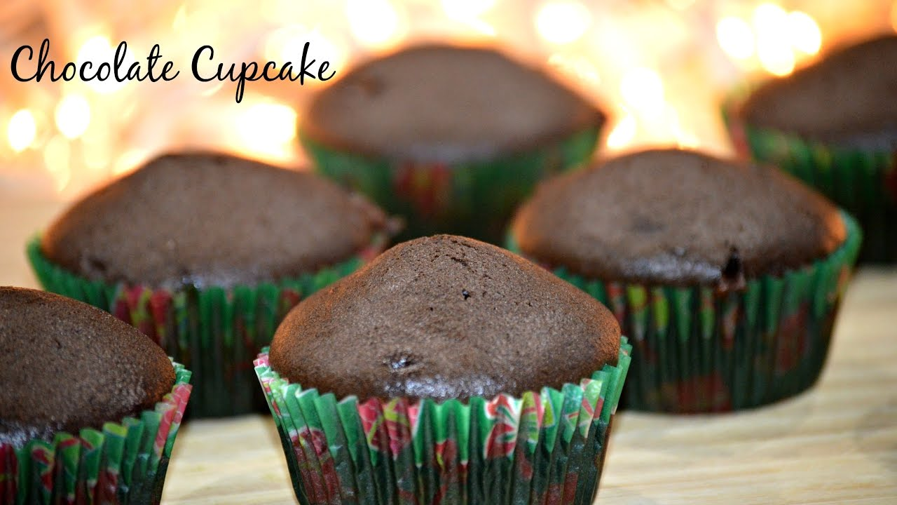 Eggless Chocolate Cupcakes  Basic & Easy Cupcake Recipe  How To Make  Chocolate Cupcakes