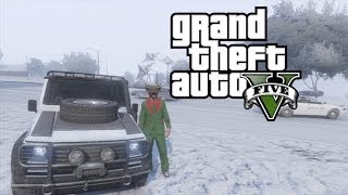GTA V - Online - Winter Police Chase - 4K [2160p]