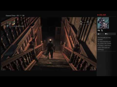 Bloodborne gameplay pt 3 beating the celeric beast