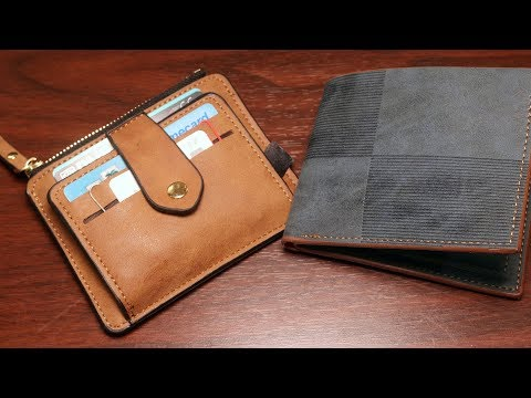 My Two New Wallets (leather, made in Marikina, Philippines)