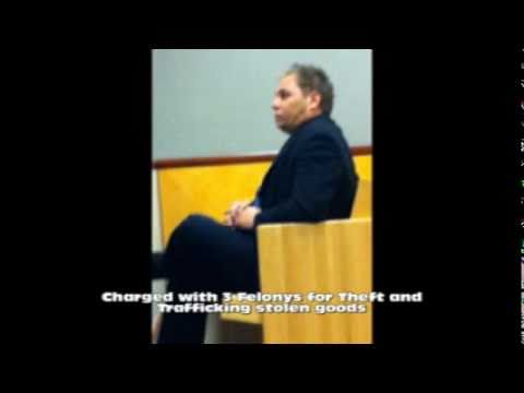 Charles Richard - in court on felony charges