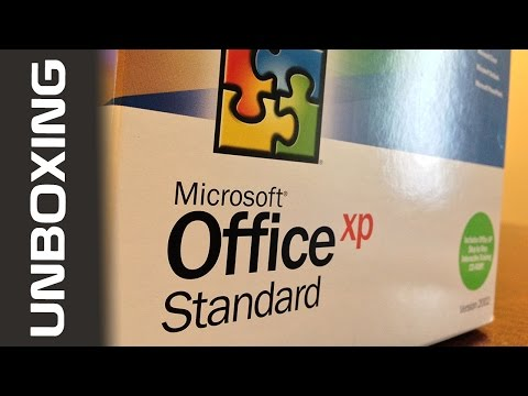 Microsoft Office XP Unboxing