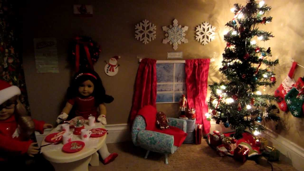 Tour of My American Girl Doll Christmas Room! - YouTube
