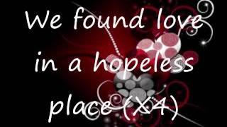 Rihanna-we found love (lyrics video)