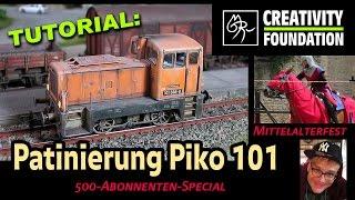 TUTORIAL Patinierung: Piko Lok 101 altern | Mittelaltermarkt 2016, Burg Neuhaus #kunstmichiworld 054