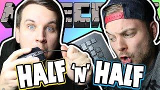 MINECRAFT HALF & HALF CHALLENGE! - Death Run W/AshDubh
