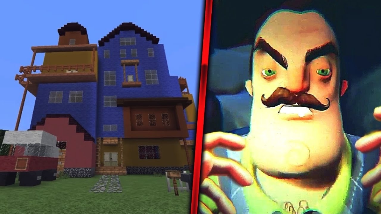 The hello neighbor house - Minecraft Vid Hello Neighbor Alpha 1 Gameplay