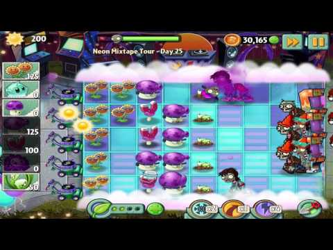 Plants vs Zombies 2: Neon Mixtape Tour - Day 25 Walkthrough