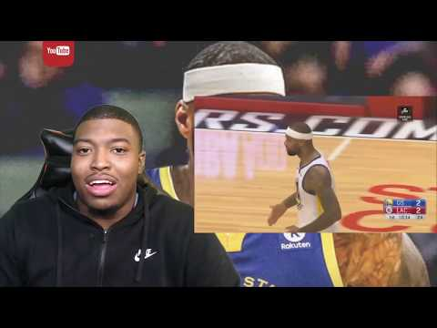 Demarcus Cousins Throws Down CRAZY Dunk For First Two Points As A Golden St Warrior(NBA IN TROUBLE!)