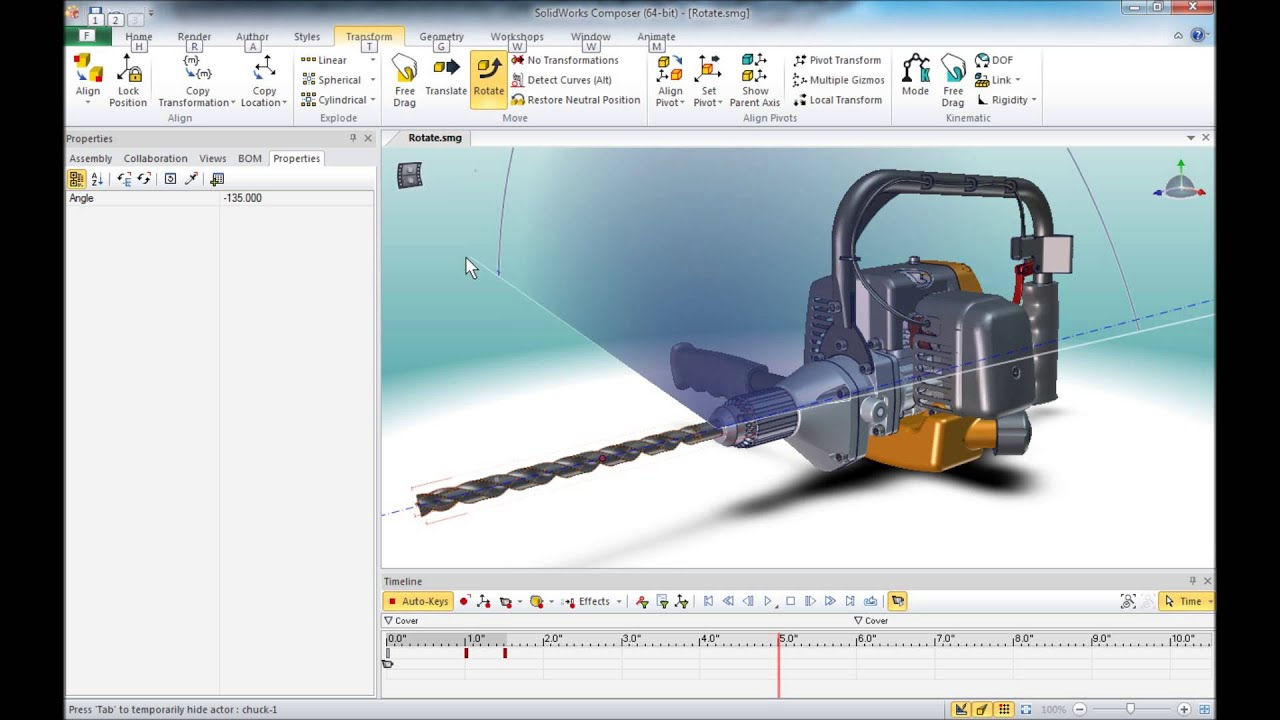 SolidWorks Composer Rotate Tips and Tricks - Author: Mike Towers