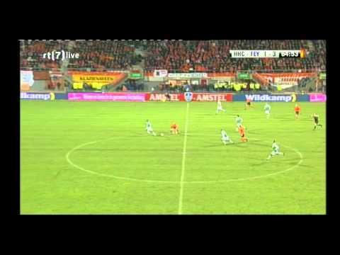 HHC Hardenberg Feyenoord Rotterdam tweede helft